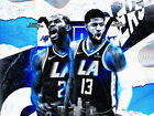 """133 Paul George - LA Los Angeles Clippers NBA Basketball 18""""x14"""" Poster on eBay"""