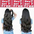 CLEARANCE Hair Extensions Half Head 1 Piece Curly Straight feel real Blonde Plum