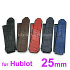 25mm Gator Leather Rubber Watch Band Strap for Hublot Big Bang F1 44 44.5 45 mm comprar usado  Enviando para Brazil