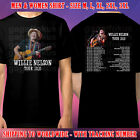 WILLIE NELSON TOUR DATES 2020 BLACK SHIRT SIZE M-3XL GALFOK FREE