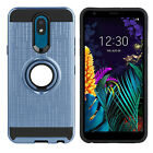 For LG K30/Aristo 4+ Shockproof Ring Stand Phone Case Cover + Screen Protector