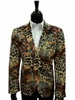 Leopard Pattern Faux Ultra Suede Soft Touch Casual Stacy Adams Blazer Jacket