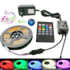 1-10M 5050 RGB Waterproof LED Strip Lights+Bluetooth /WiFi Remote Supply Power