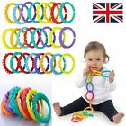 Plastic Baby Kids Infant Stroller Gym Play Mat Toys Rainbow Teether Ring...
