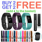 For Fitbit Charge 2 /HR Strap Sports Wrist Band Silicone Replacement Small Large image