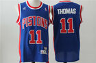 NEW Detroit Pistons #11 Isiah Thomas Retro Swingman Basketball Jersey Blue on eBay