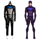 Young Justice S2 Nightwing Robin Cosplay Costume Halloween Adult Outfit Mask