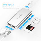 LENTION USB C Hub to HDMI Ethernet USB 3.0 Aux Dongle Adapter for MacBook Pro