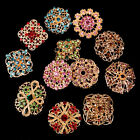 24pc Brooch Lot Mixed Alloy Rhinestone Crystal Pearl Pin Wedding Bouquet DIY Kit