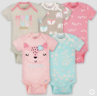 Baby Girl Lot of 5 Onesies Foxes More Hugs Love Short Sleeve NWT Gerber 0-3 for sale  Shipping to South Africa