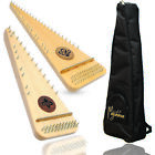 Muzikkon Bowed Psaltery Solid Lacewood, Soprano, Alto and Tenor psaltery