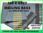 100 X STRONG ALL SIZES GREY MAILING BAG POSTAL PARCEL COURIER POLY PACKING BAGS