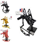 USA Stock Rearsets Footpegs Footrests For Yamaha YZF R1 R6  YZF R125 MT07 FZ07