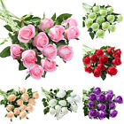"19""tall Artificial Rose Real Touch Silk Flower Bridal Wedding Bouquet Home Decor"