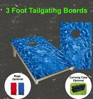 Craft Cornhole Boards Realistic Glimmering Pool Water Bean Bag Toss Game Set $169.9 USD on eBay