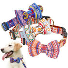 Fashion Bowtie Leather Dog Collar Girl Dogs Puppy Necklace for Bulldog Pitbull