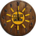 Large Wall Clock It's 5 O'clock Somewhere Sunshine Adventure Offroad 4x4 Lifted