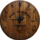 Large Wall Clock Wine Vineyards Grapes Bar Sign
