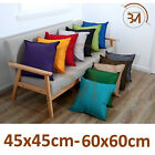 Plain Indoor Outdoor Waterproof Garden Furniture Pad Cushion Covers / 2 Sizes
