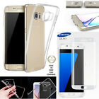 Protection Film Screen Curved 3D Samsung Galaxy S6 S7 Edge+ Silicone Cover