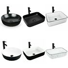 Bathroom Ceramic Vessel Sink Vanity Basin Above Counter Faucet Pop Drain Combo