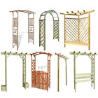 Garden Wooden Arch Roses Arbor Pergola Bamboo Rose Arch Climbing Plant with Seat
