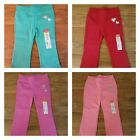 Okie Dokie Toddler Girls Pink Red Orange Green Fleece Sweat Pants Bottoms 12M-5T