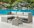 Rattan Garden Furniture Sofa Set Grey Black Brown Patio Outdoor Corner Lounge