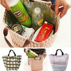 Lunch Bag Insulation Container Holder Simple Print Large Waterproof Organizer Mp