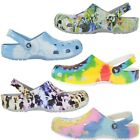 CROCS-Tie-Dye-Classic-LIMITED-EDITION-COLORS-LightWeight-Comfort-Shoes-Womens