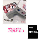 Pink Camera Blue Kids Digital Video Cam Child Birthday Gift Boy Girl + 32gb SD