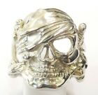 Sterling Silver Skull Ring Sizes P to Z+6
