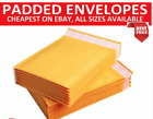 GOLD PADDED BUBBLE ENVELOPES BAGS POSTAL WRAP - ALL SIZES - Cheapest online