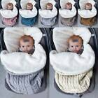 Thick Baby Swaddle Wrap Knit Envelope Newborn Sleeping Bag Warm Blanket MP