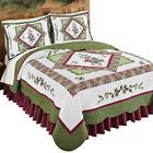 Woodland-inspired Pinecone Patchwork Reversible Lightweight Quilt image