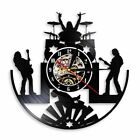 Rock and Roll Band LED Light Wall Clock Metal Music Group Vinyl Record Decor