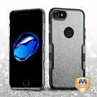 For iPhone 7 / 8 Full Glitter Panoview Hybrid Impact Armor Protector Case Cover