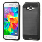 For Samsung Grand Prime Plus/Grand Prime Black/Black Brushed Protector Cover
