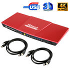 TESmart Ultra HD 4 Port KVM Switch HDMI KVM Switcher 4K@30hz USB HDCP USB2.0