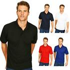 Mens Plain Premium Polo Shirt Casual Work Leisure Sports Top