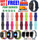 Silicone Nylon Sport Band Strap for Apple Watch Series 5 4 3 2 1 42/44mm 38/40mm image
