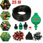 DIY Auto 25m Micro Drip Irrigation System Timer Self Plant Watering Garden Hose