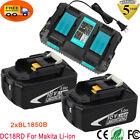 For Makita BL1850B BL1830B Lithium-Ion Battery + DC18RD Dual Port Fast Charger