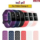 For Fitbit Charge 3 4 Bands Replacement Silicone Wristband Watch Strap Bracelet