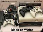 Microsoft XBox 360 120GB + 10 Games ( 250+ choices) White or Black + Opt Kinect