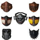 Adult Half Face Mask Costume Halloween Latex Skull Breathable Steampunk Gothic