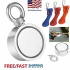 500LBS Fishing Big Magnet Kit  Pulling Force Strong Neodymium or 10M Rope USA