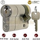 Vier V5 Garage Van Door Roller Shutter Key Switch Half Euro Cylinder Lock Barrel