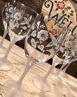 Avon Rare Hummingbird etched Crystal, flute,brandy,goblet - France, Collectable