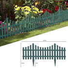 4pc Grey Wooden Effect Picket Fencing Lawn Edge Garden Plastic Border Edging
